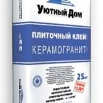 Клей для керамогранита Уютный Дом Керамогранит, 25 кг