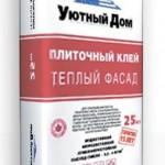 Клей для систем фасадного утепления Уютный Дом Теплый фасад, 25 кг (Морозостойкий)