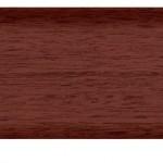 Плинтус с мягким краем и кабель-каналом (58 мм) Махагон