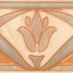Фриз Елена цветок оранжевый 20х7