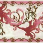Фриз Мрия бордовый  25×8 см