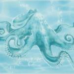Декор Лазурь осьминог бирюзовый 25х35 см