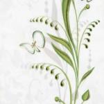 Декор Нарцисс лето салатный  20х30 см