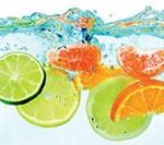 Кухонный фартук Фрукты в воде (ПВХ пластик)