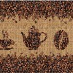Кухонный фартук Кофейные зёрна (ПВХ пластик)