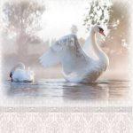 Дамасский узор Лебеди